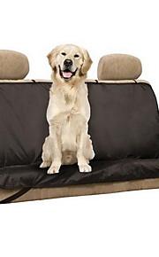 Собака Чехол для сидения автомобиля Животные Коврики и подушки Однотонный Водонепроницаемость Складной Черный Для домашних животных