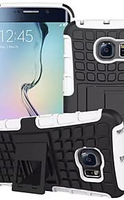 fodral Till Samsung Galaxy Samsung Galaxy-fodral Stötsäker med stativ Skal Rustning PC för S7 edge S7 S6 edge S6 S5 Mini S5 S4