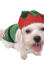 Pet Dog Clothes Hat Set Coat Costume For Christmas Party Cosplay Playing Clown Apparel