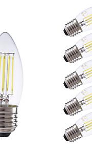 E26/E27 LED-glødepærer B 4 leds COB Mulighet for demping Varm hvit Kjølig hvit 350/400lm 6500/2700K AC 220-240V