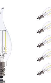 E14 LED-glødepærer B 2 leds COB Varm hvit Kjølig hvit 250lm 6500K AC 220-240V