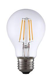 E26 LED-glødepærer A60(A19) 4 leds COB Mulighet for demping Varm hvit 350lm 2700K AC 110-130V