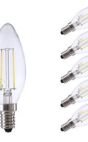 E14 LED-glødepærer B 2 leds COB Varm hvit Kjølig hvit 250lm 6500/2700K AC 220-240V