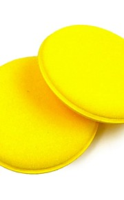 ZIQIAO 2PCS Anti-Scratch Car Circle Cleaning Wax/Polish Yellow Foam Sponges Pad Car Cleaning Tool Car Care