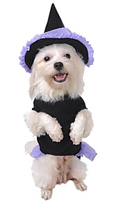 Pet Dog Clothes Hat Set Coat Cloak Costume For Halloween Party Cosplay Playing Wizard Apparel Puppy Kitten Clothes for Dog