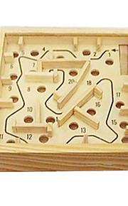 Blocos de Construir Bolas Jogos de Labirinto & Lógica Labirinto Labirinto de madeira Antiestresse Brinquedos Novidades Quadrada Madeira 1