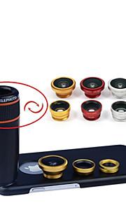 1 렌즈 키트 apexel 4 12 배 아이폰 6의 경우 블랙 망원 렌즈 + 어안 렌즈 + 광각 + 매크로 카메라 렌즈