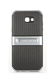 Custodia Per Samsung Galaxy A7(2017) A5(2017) Con supporto Custodia posteriore Tinta unica Morbido PC per A5 (2017) A7 (2017)