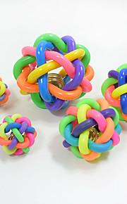 Шарообразные Жевательные игрушки Интерактивный Игрушка для очистки зубов Игрушки с писком Мультипликация Скрип Эластичный Прочный