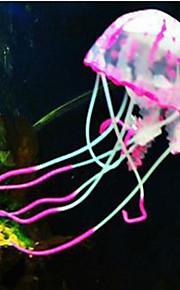 Decoración de Acuario Medusa No Tóxico y Sin Sabor Silicona