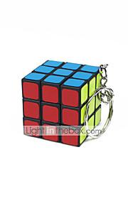 Rubiks terning Let Glidende Speedcube Glat klistermærke Justerbar fjeder Magiske terninger Nøglering Kvadrat Gave