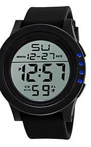 Homens Digital Relogio digital Relógio Esportivo Chinês Relógio Casual Silicone Banda Legal Preta