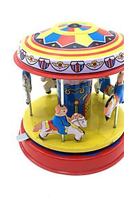 Brinquedos de Corda Fofinho Cavalo Carrossel Merry Go Round Metalic Ferro 1pcs Peças Para Meninos Crianças Dom