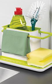 1pç Prateleiras e Suportes Plástico Fácil Uso Organização de cozinha