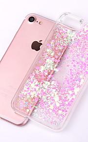 Kılıf Na Apple iPhone X iPhone 8 iPhone 8 Plus Etui iPhone 5 Z płynem Przezroczyste Czarne etui Połysk Twarde PC na iPhone X iPhone 8