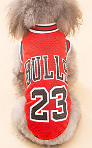 Dog Shirt / T-Shirt Dog Clothes British Red Black Polyester Costume For Pets Men's Women's Casual/Daily Holiday Birthday
