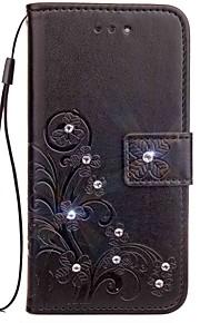 Custodia Per Asus Zenfone 4 ZE554KL Zenfone 4 Selfie ZD552KL Con diamantini Con chiusura magnetica Decorazioni in rilievo Integrale Fiori