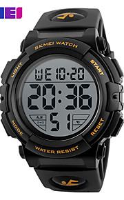 SKMEI Homens Digital Relogio digital Relógio Esportivo Relógio Casual PU Banda Amuleto Preta Verde
