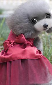 Chat Chien Robe Vêtements pour Chien Cristal / Stras Bleu de minuit Rouge Coton Costume Pour les animaux domestiques Soirée Décontracté /