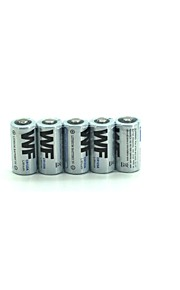 5Pcs  Wf  Cr123A 16340  Li-Ion Battery 3V Primary Lithium Battery