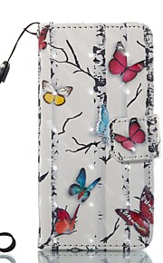 Case For Apple ipod touch 5 touch 6 Case Cover Card Holder Wallet with Stand Flip Pattern Full Body Case Butterfly Hard PU Leather