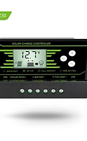 Y-SOALR PWM  10A Solar Charge Controller 12V 24V Auto with Back-light LCD Display Dual USB 5V Solar Regulator Charger Z10