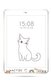 Tempered Glass Screen Protector for iPad (2017)iPad pro 10.5 9H Hardness Cartoon Cat Full Body Screen Protector for ipad Pro9.7 Air Air2