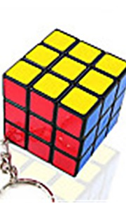 Rubiks terning Mini Let Glidende Speedcube Magiske terninger Nøglering Puslespil Terning Glat klistermærke Gave Unisex