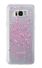 Custodia Per Samsung Galaxy S8 Plus S8 Traslucido Custodia posteriore Con cuori Glitterato Morbido TPU per S8 S8 Plus S7 edge S7
