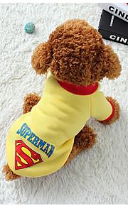 Hond Gilet Hondenkleding Geometrisch Zwart Grijs Geel Blauw Katoen Kostuum Voor huisdieren Casual/Dagelijks