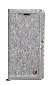 Custodia Per Samsung Galaxy S8 Plus S8 Porta-carte di credito Con supporto Con chiusura magnetica Integrale Tinta unica Morbido Similpelle