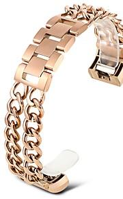 bandas para carga de fitbit 2 pulseira metálica de substituição de aço inoxidável -rose ouro