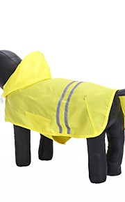 Kissa Koira Hupparit Sadetakki Koiran vaatteet Yhtenäinen Keltainen Fuksia Sininen Oxford-kangas Vedenpitävä materiaali Teryleeni Asu