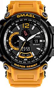 Homens Relógio Esportivo Digital Calendário Cronógrafo Impermeável alarme Cronômetro Noctilucente PU Banda Preta Azul Vermelho Laranja