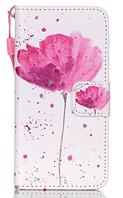 Case For Apple Ipod Touch5 / 6 Case Cover Card Holder Wallet with Stand Flip Pattern Full Body Case  A Flower Hard PU Leather