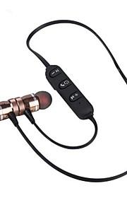 st009 באוזן אוזניות אלחוטיות דינמי סגסוגת אלומיניום טלפון סלולרי עם מיקרופון עם בקרת עוצמת הקול מגנט אטרקציה