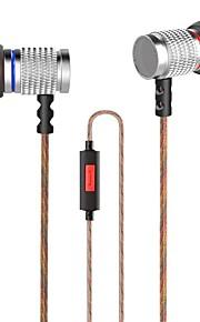 KZ EDR2 I øret Ledning Hovedtelefoner Dynamisk Aluminum Alloy Mobiltelefon øretelefon Støj-isolering Headset