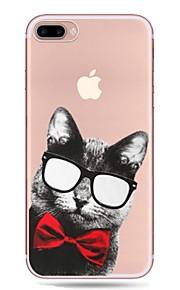 Etui Käyttötarkoitus Apple iPhone X iPhone 8 iPhone 8 Plus Ultraohut Läpinäkyvä Kuvio Takakuori Kissa Pehmeä TPU varten iPhone X iPhone 8