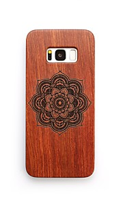 For Case Cover Shockproof Back Cover Case Flower Hard Wooden for Samsung Galaxy S8 Plus S8