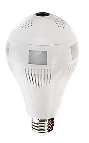 VESKYS® 960P 360 degree FishEye Lens Wireless IP Camera Bulb Light Smart Home 1.3MP Home Security WiFi Panoramic Camera