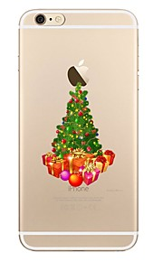 fodral Till Apple iPhone X iPhone 8 iPhone 8 Plus Genomskinlig Mönster Skal Träd Jul Mjukt TPU för iPhone X iPhone 8 Plus iPhone 8 iPhone