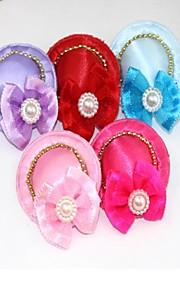 Chat Chien Accessoires pour poils Vêtements pour Chien Soirée Décontracté / Quotidien Mariage Halloween Noël Nœud papillon Couleurs