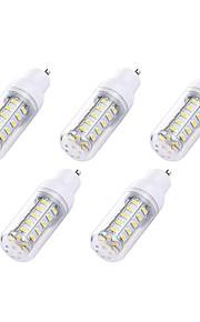 5pcs 2W GU10 LED-kornpærer T 36 leds SMD 5730 Hvit 180lm 6000-6500K 110-120V