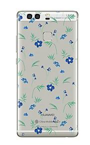 Custodia Per Transparente Fantasia/disegno Custodia posteriore Transparente Fiore decorativo Morbido TPU per Huawei P10 Plus Huawei P10