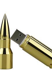 16GB metal bullet usb 2,0 usb flashdrev pen drive memory stick pendrive dig disk flashdrev sølv / guld