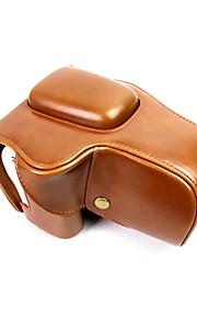 Tampa de bolsa de couro para câmera de couro dengpin pu para lente canon eos 200d 18-55mm (cores sortidas)