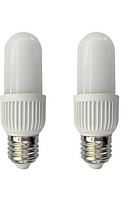2pcs 6W E27 LED-kornpærer T 34 leds SMD 2835 Varm hvit Hvit 480lm 3000/6000K AC 220-240V
