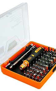 herramienta de reparación de teléfono de la pc 53 en 1 conjunto de destornilladores desmontar la electrónica de la tableta del teléfono