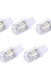 5pcs 2W GU10 LED-kornpærer T 30 leds SMD 5730 Hvit 150lm 6000-6500K 110-120V
