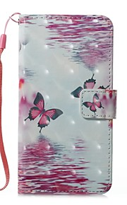 For Case Cover Card Holder Wallet with Stand Flip Magnetic Pattern Full Body Case Butterfly Hard PU Leather for Samsung Galaxy A3(2017)